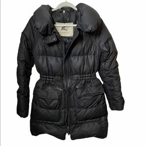 Burberry Down Puffer Jacket with cinched waist S